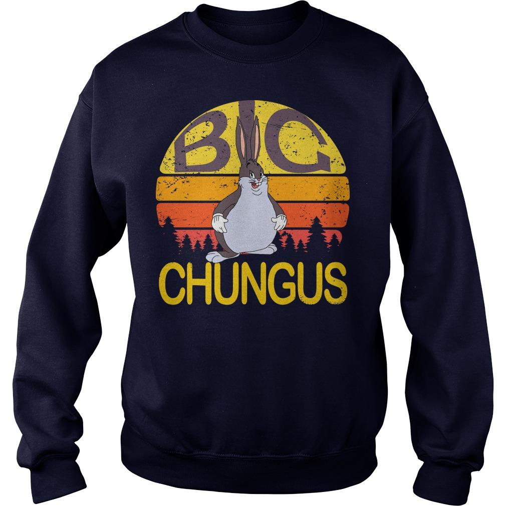 Big Chungus meme vintage sunset sweater