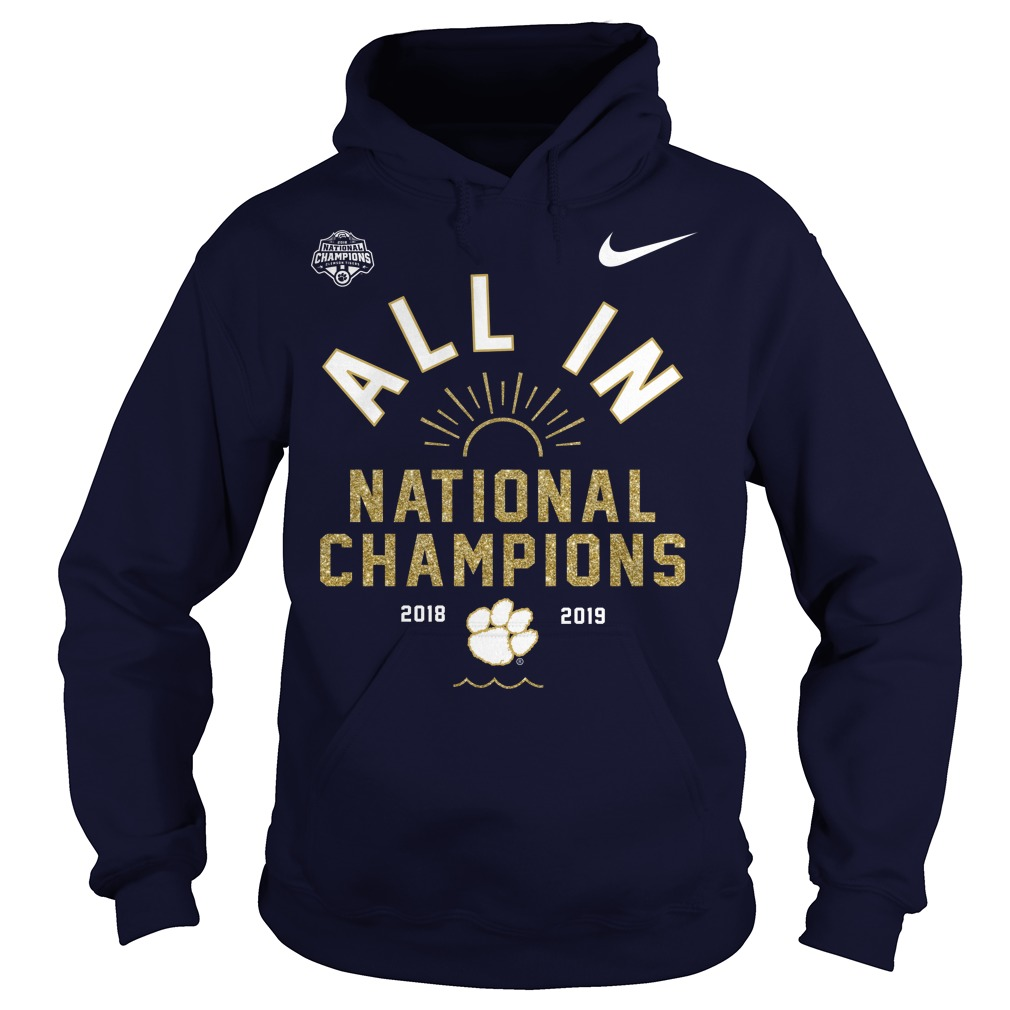 Clemson Tigers championship football hoodie