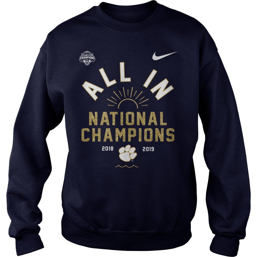 Clemson Tigers championship football sweater