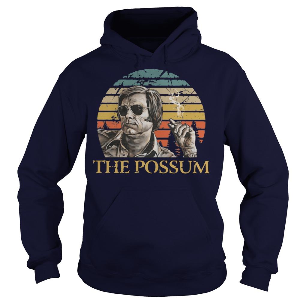 George Jones the possum retro sunset hoodie