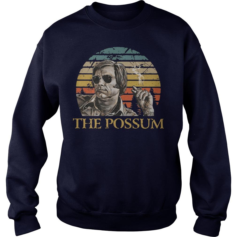 George Jones the possum retro sunset sweater