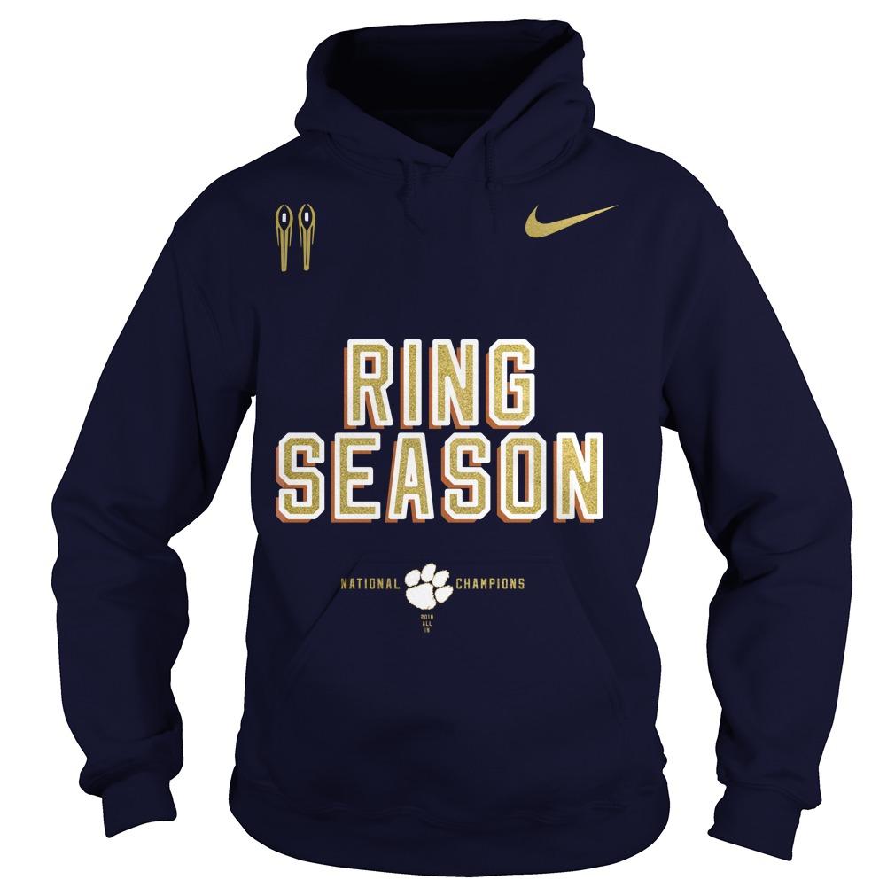Nike clemson national championship 2018 ring season hoodie