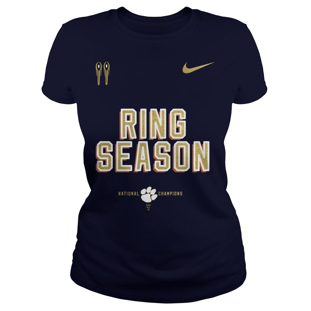 Nike clemson national championship 2018 ring season ladies tee