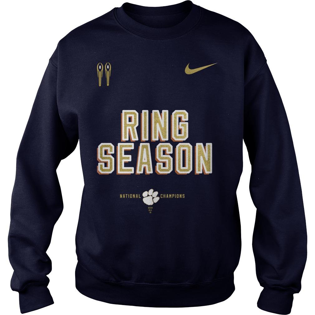 Nike clemson national championship 2018 ring season sweater