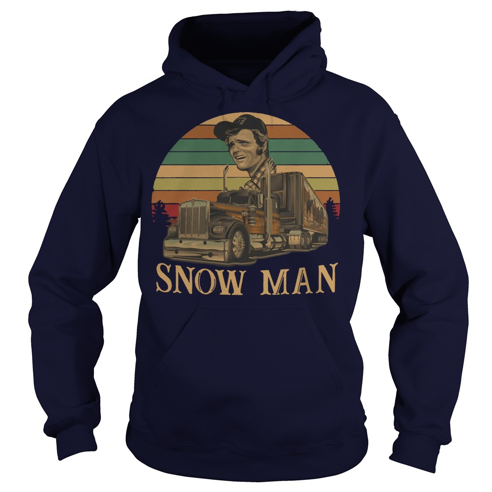 Smokey Snowman vintage kid sunset hoodie