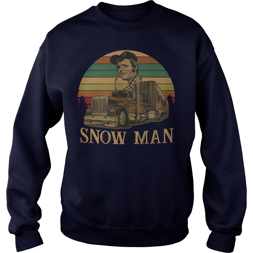 Smokey Snowman vintage kid sunset sweater