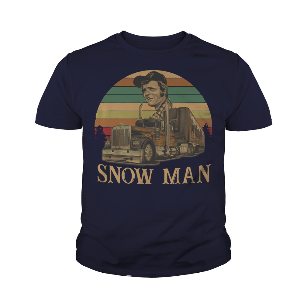 Smokey Snowman vintage kid sunset youth tee