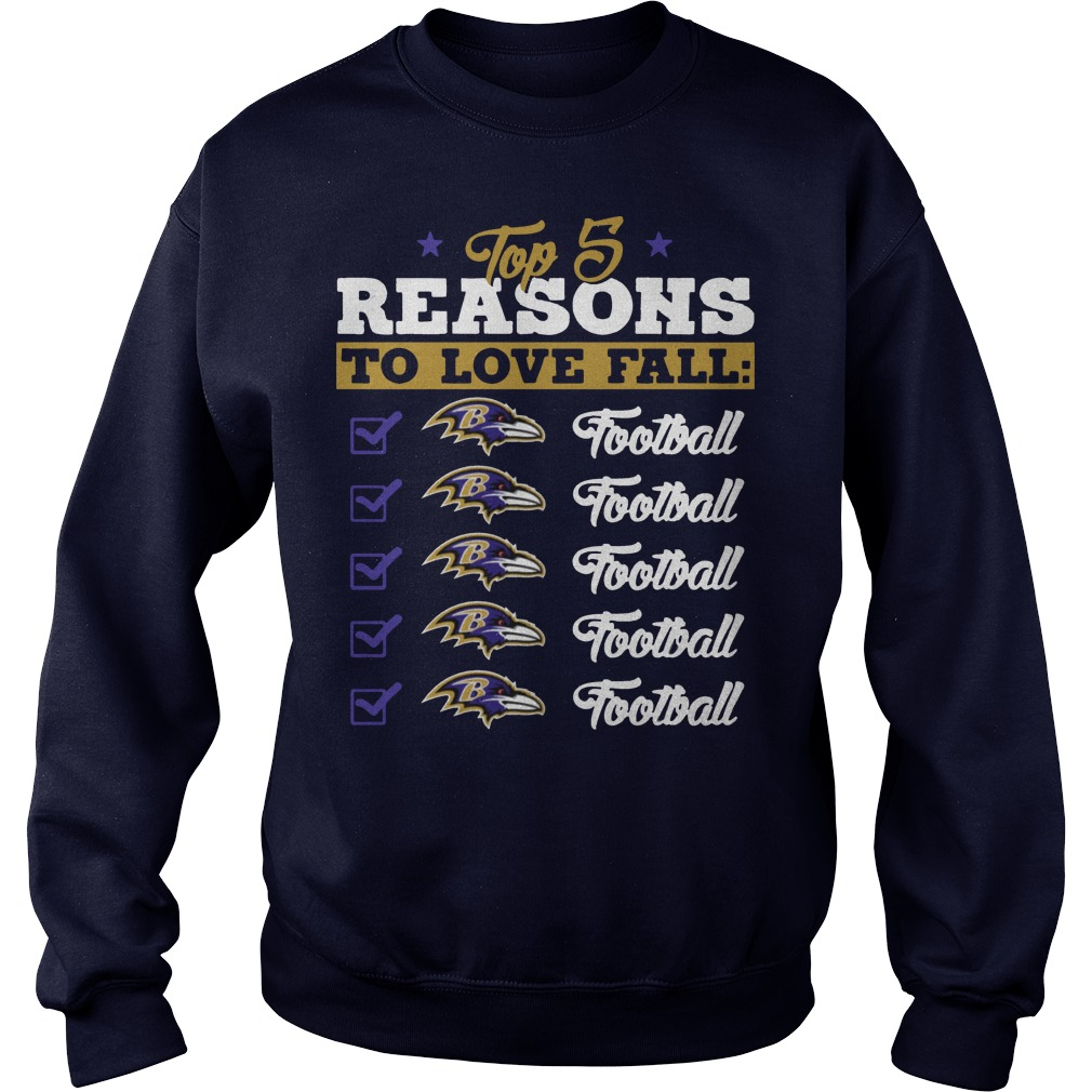 Top 5 reasons to love falls ravens Football team sweater