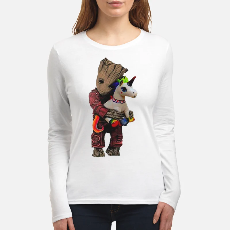 Baby Groot hug unicorn long sleeve