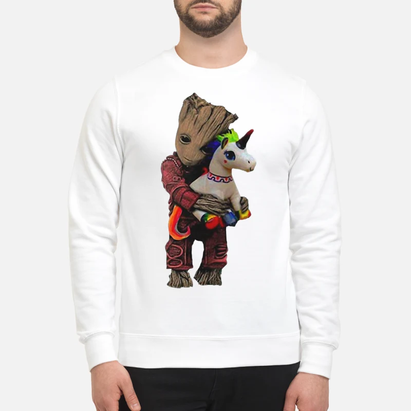 Baby Groot hug unicorn sweater