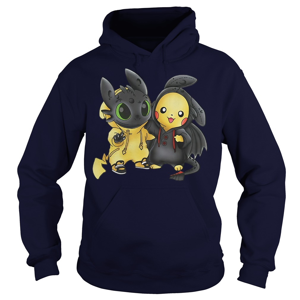Baby Toothless and Pikachu hoodie