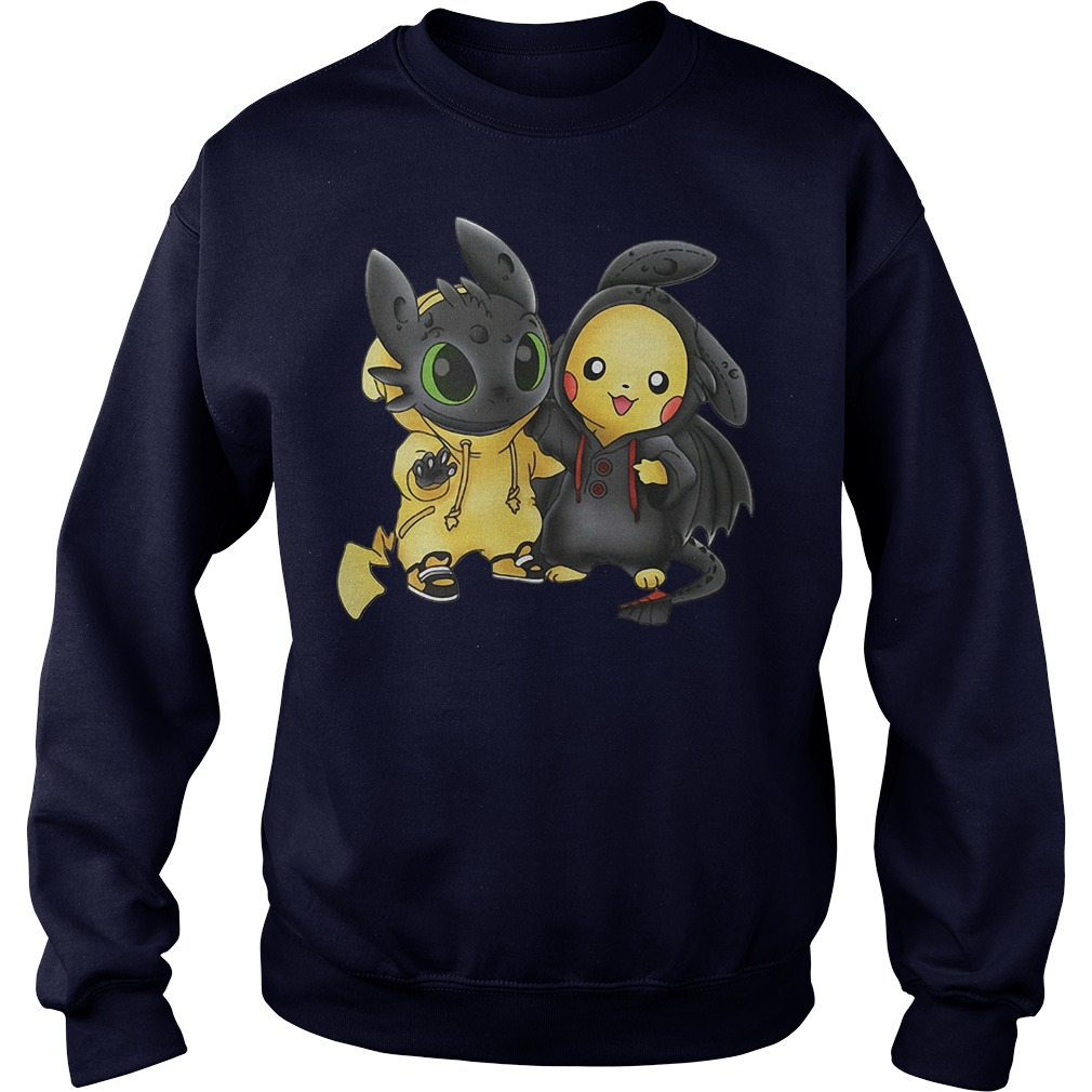 Baby Toothless and Pikachu sweater