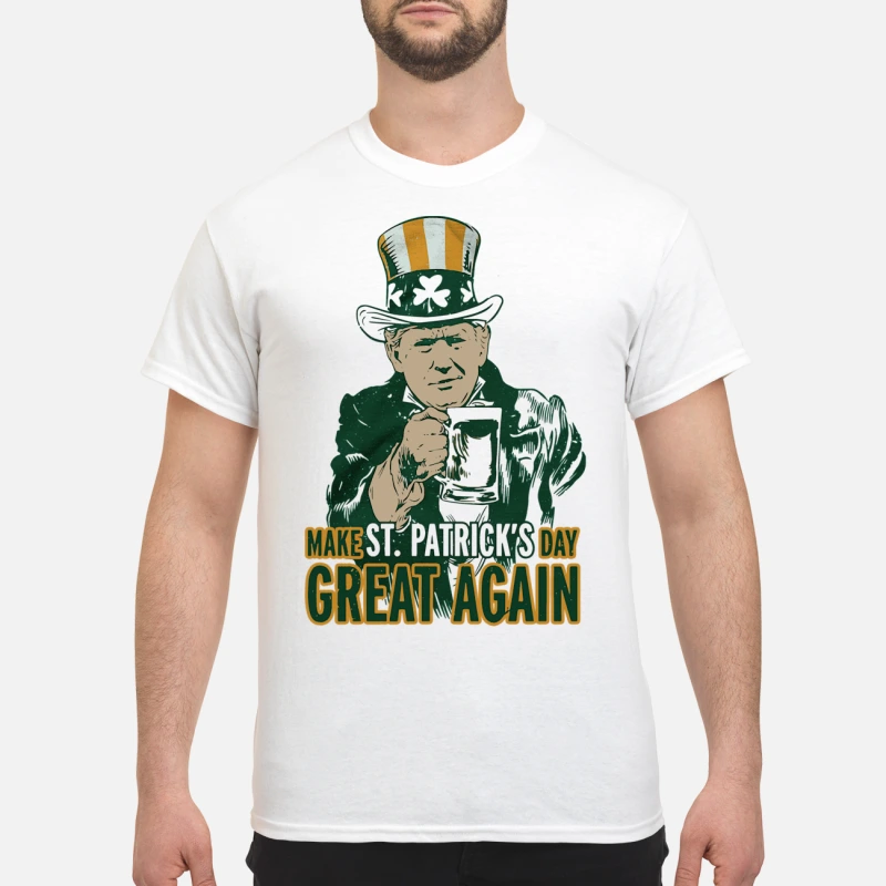 Donald Trump make St Patrick's day great again shirt