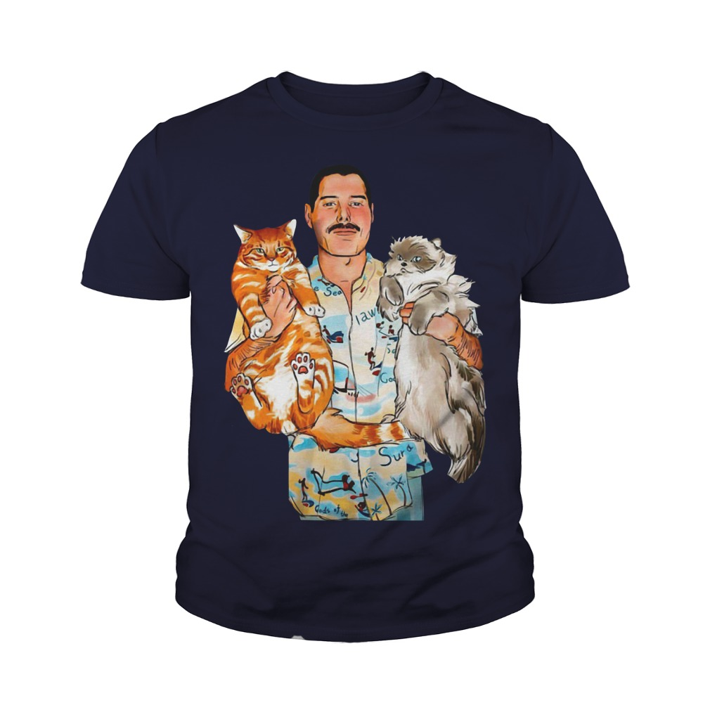 Freddie Mercury with his cats youth tee