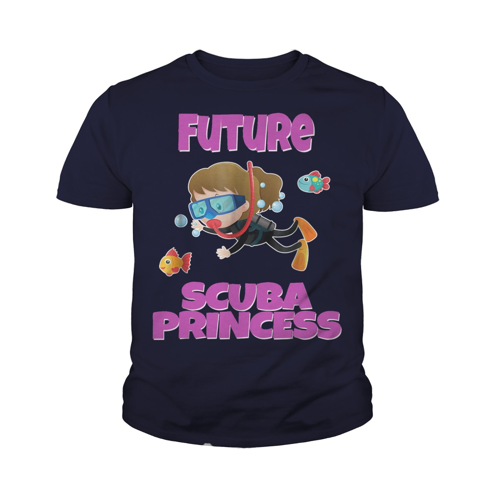 Future Scuba Princess Snorkeling youth tee