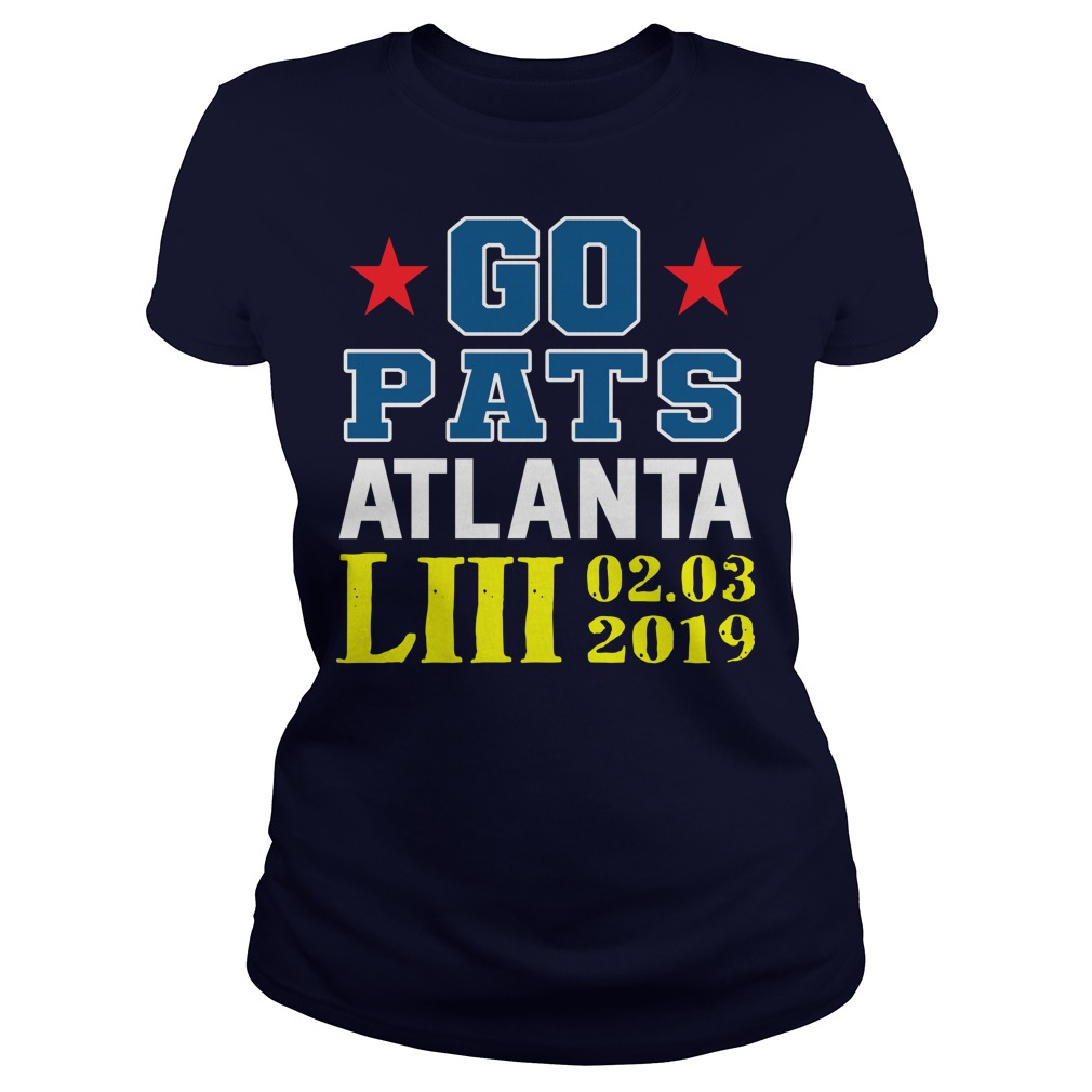Go Pats Atlanta Liii 02.03.2019 ladies tee