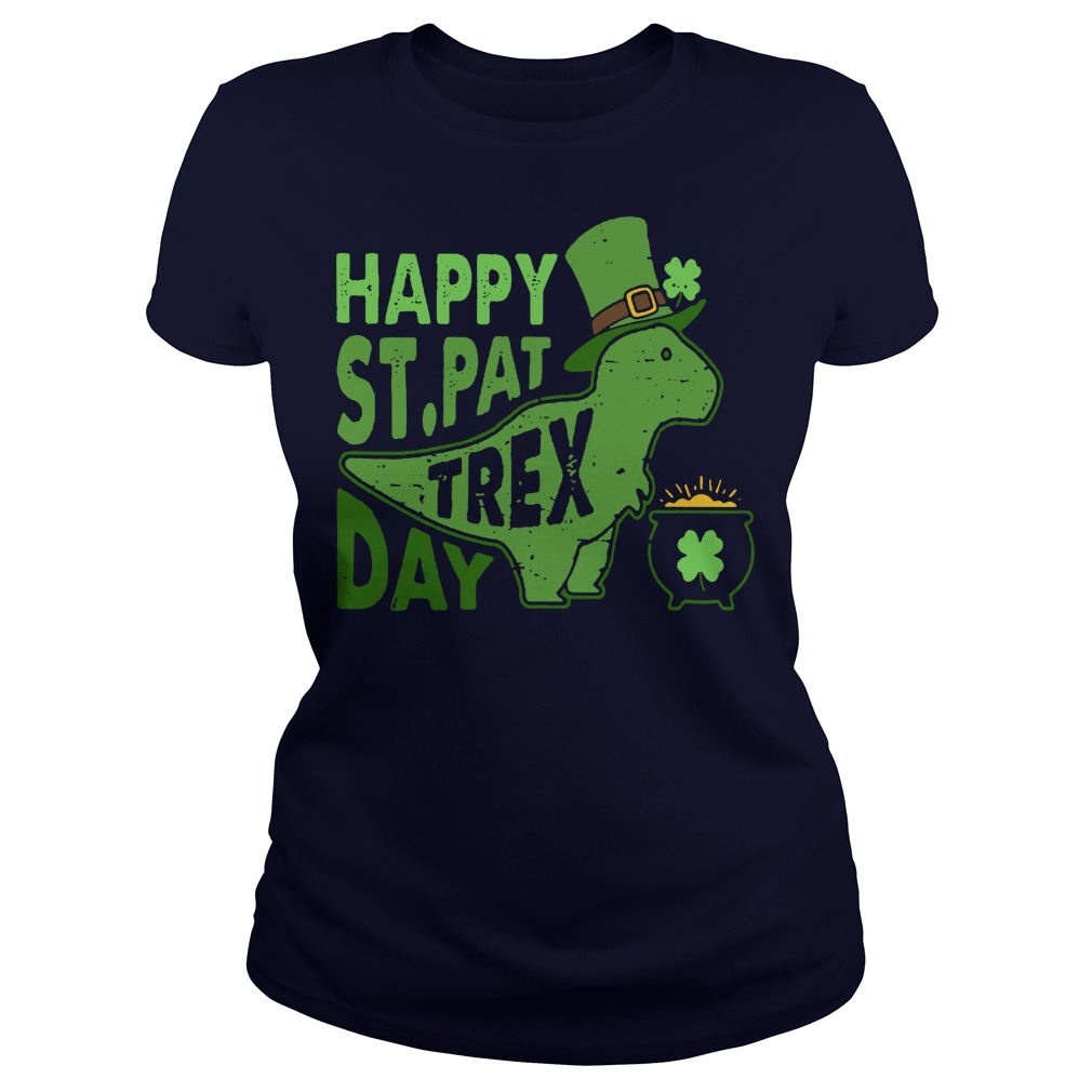 Happy st pat trex day ladies tee