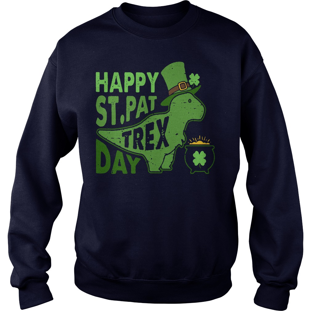Happy st pat trex day sweater