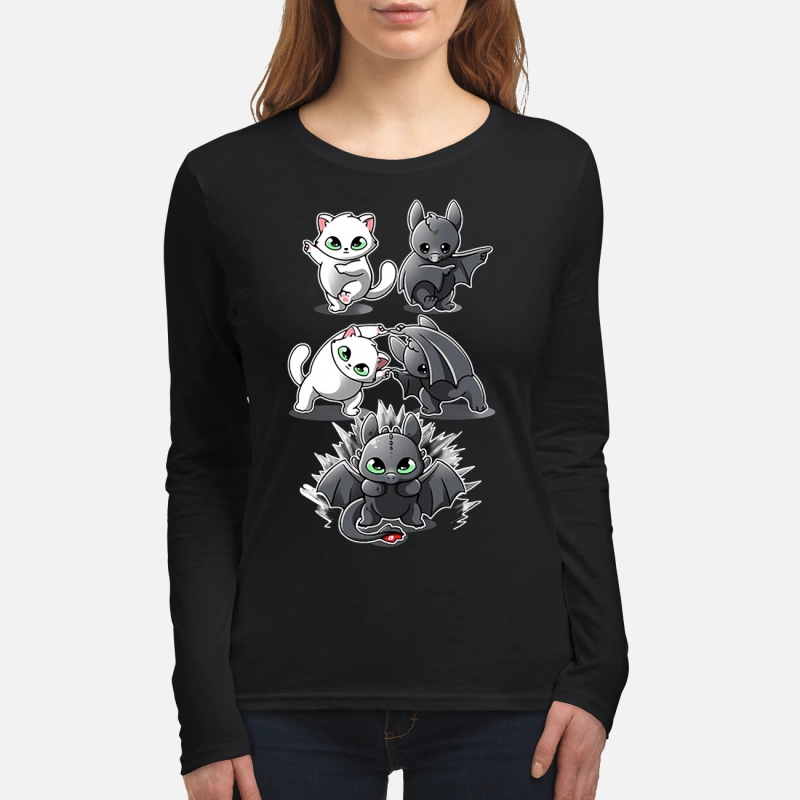 How to Train Your Dragon cat fusion bat Toothless long sleeve