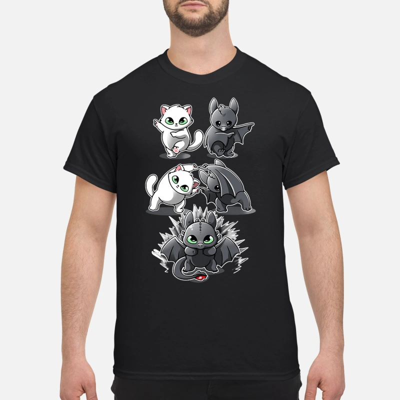 How to Train Your Dragon cat fusion bat Toothless shirt