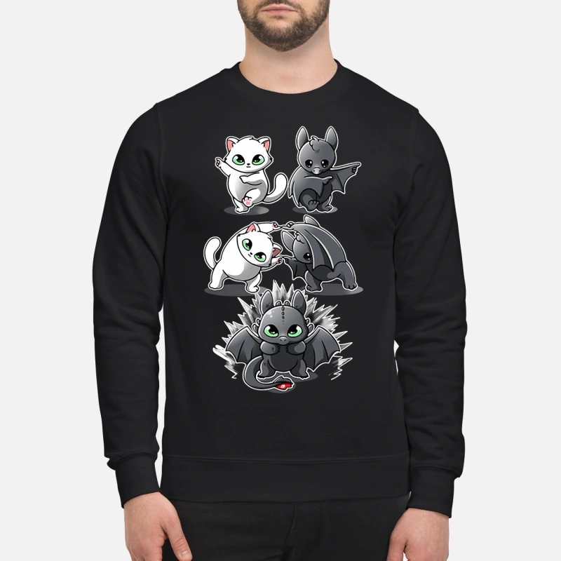 How to Train Your Dragon cat fusion bat Toothless sweater