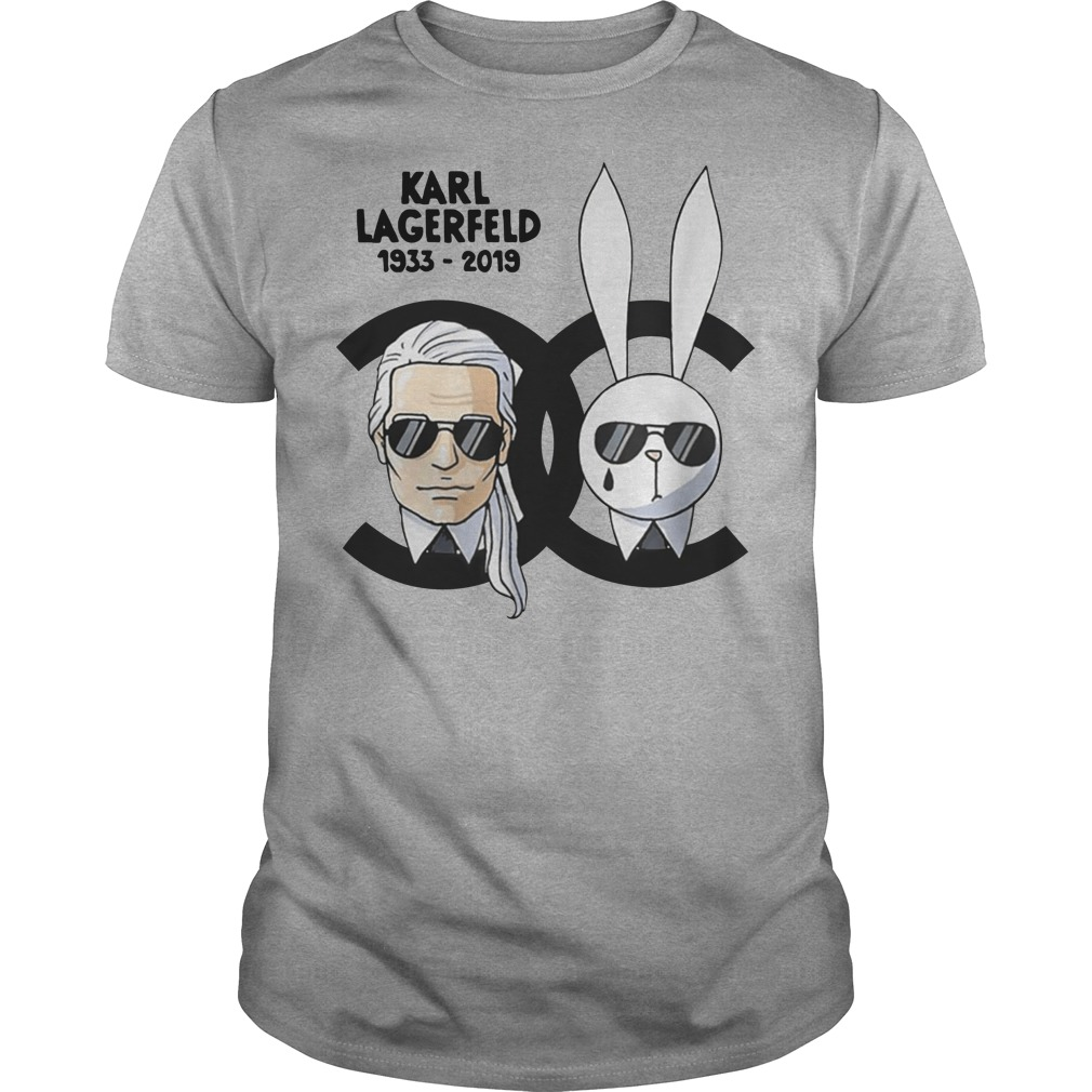 Karl Lagerfeld and rabbit Chanel shirt