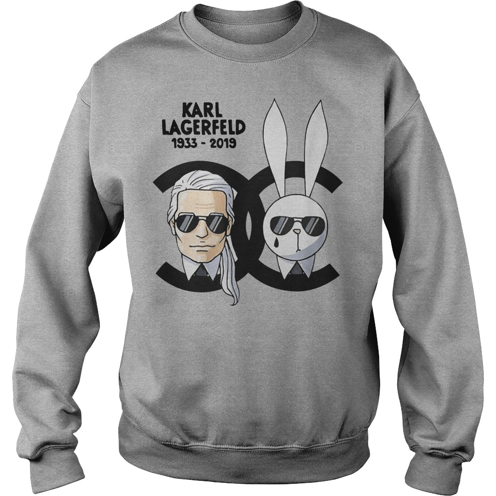 Karl Lagerfeld and rabbit Chanel sweater