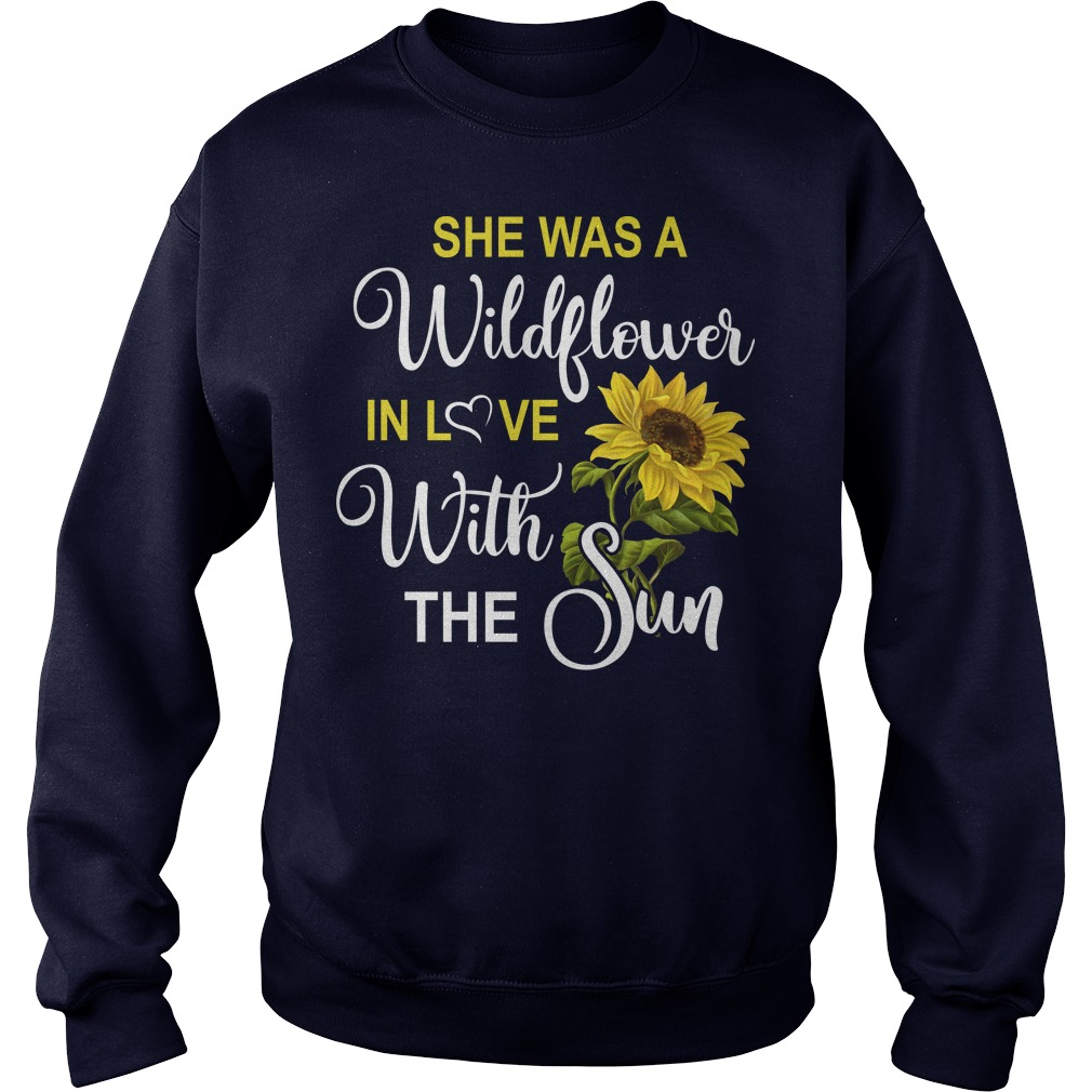 She was a wildflower in love with the sun sweater