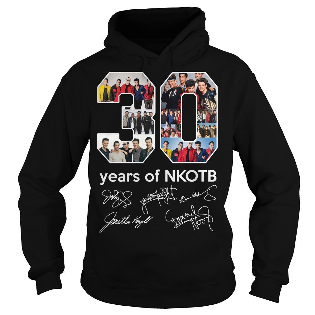 30 years of Nkotb signatures hoodie