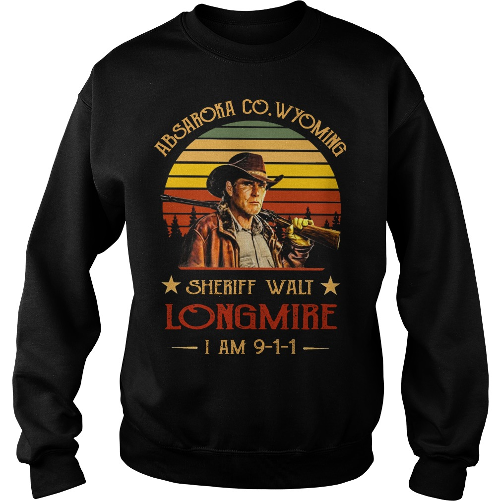 Absaroka Co Wyoming sheriff walt longmire I am 911 sweater