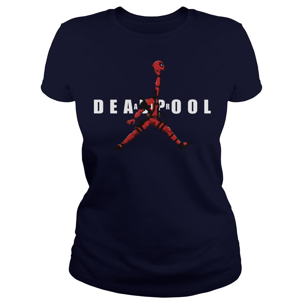 Air Jordan Deadpool Basketball ladies tee