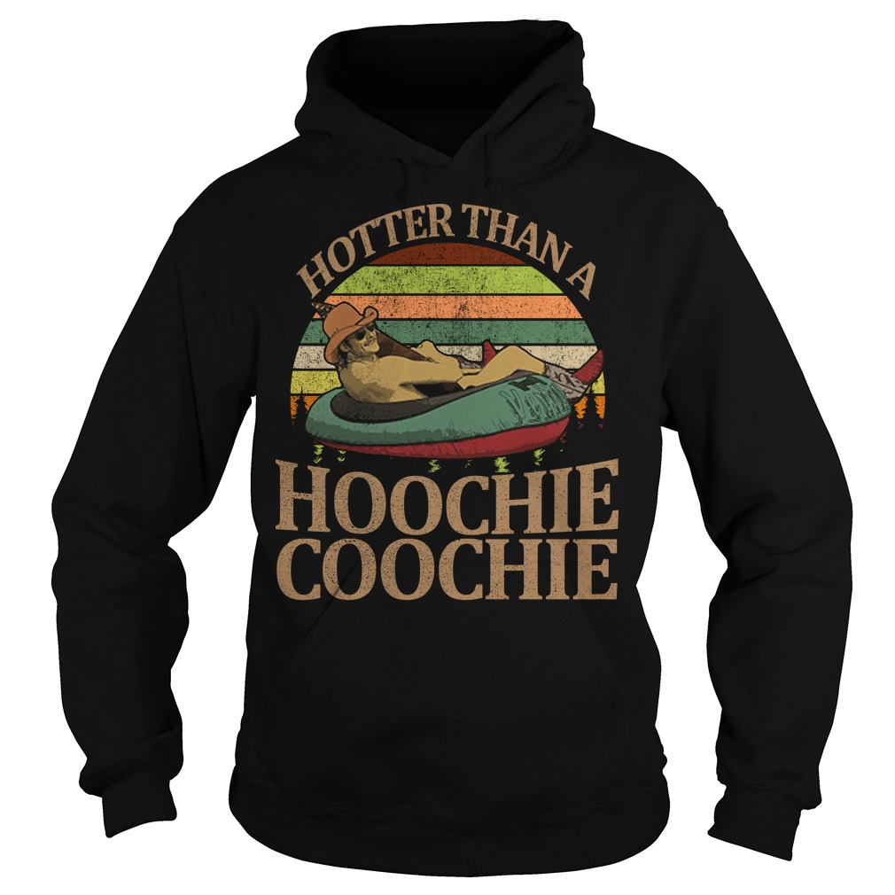 Alan Jackson hotter than a hoochie coochie vintage sunset hoodie