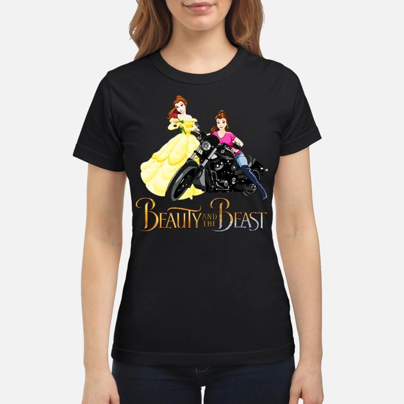 Beauty and the Beast Motorcycle Belle ladies tee
