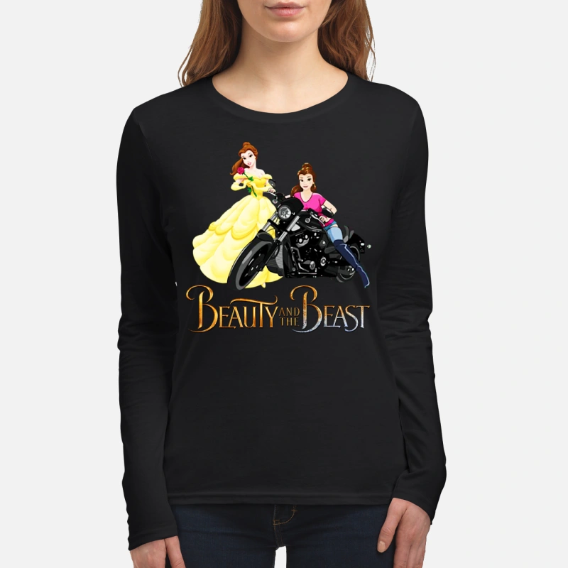 Beauty and the Beast Motorcycle Belle long sleeve