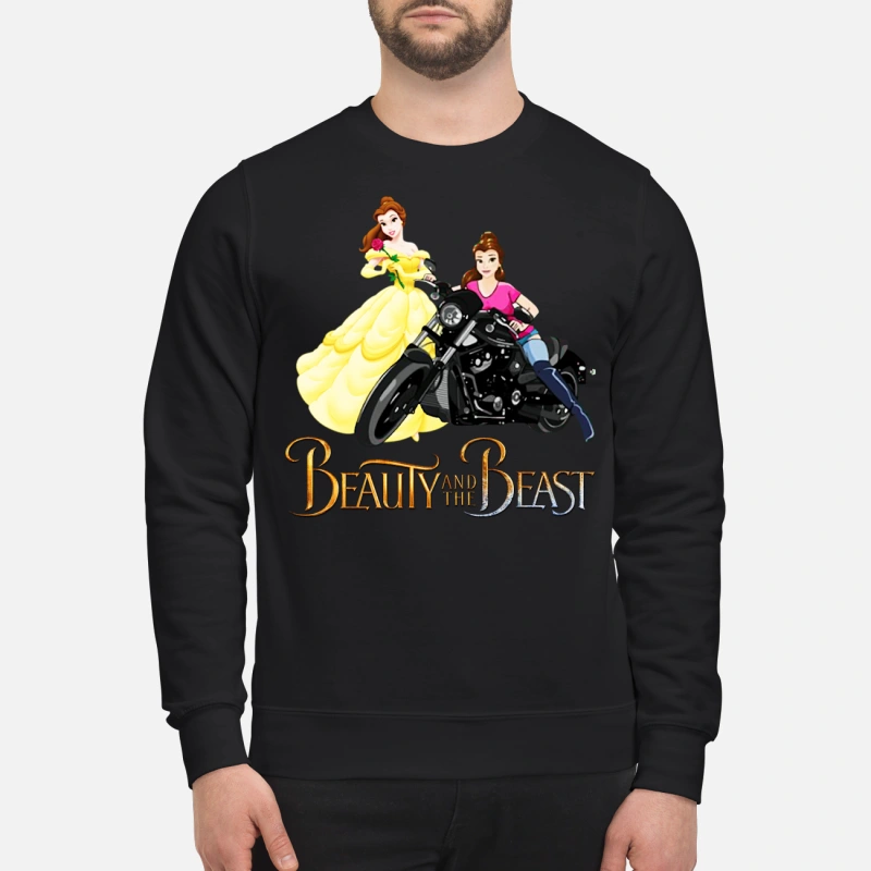 Beauty and the Beast Motorcycle Belle sweater