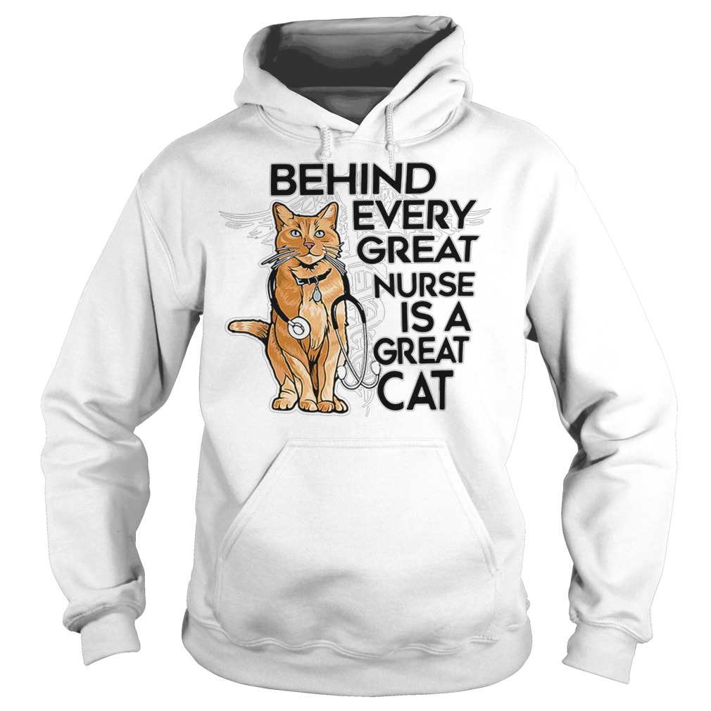 Behind every great nurse is a great captain marvel goose cat hoodie