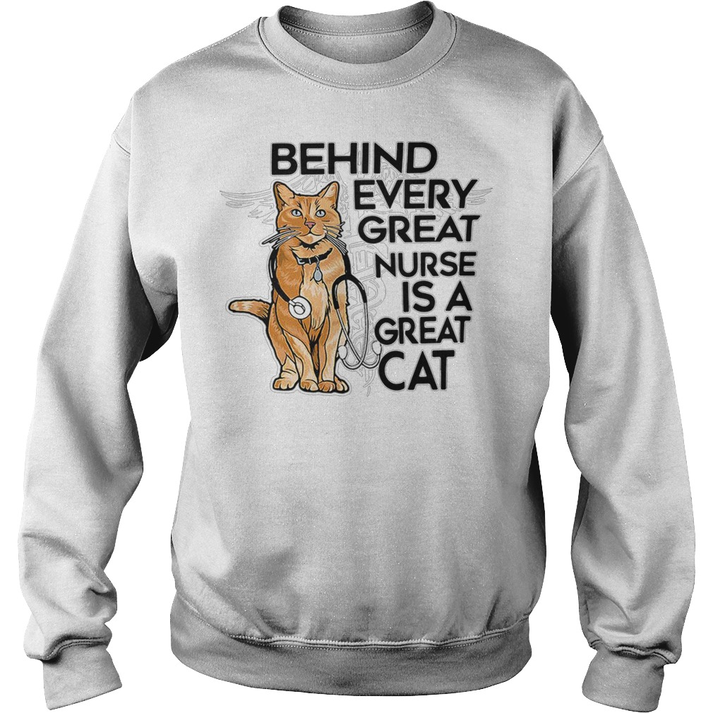 Behind every great nurse is a great captain marvel goose cat sweater