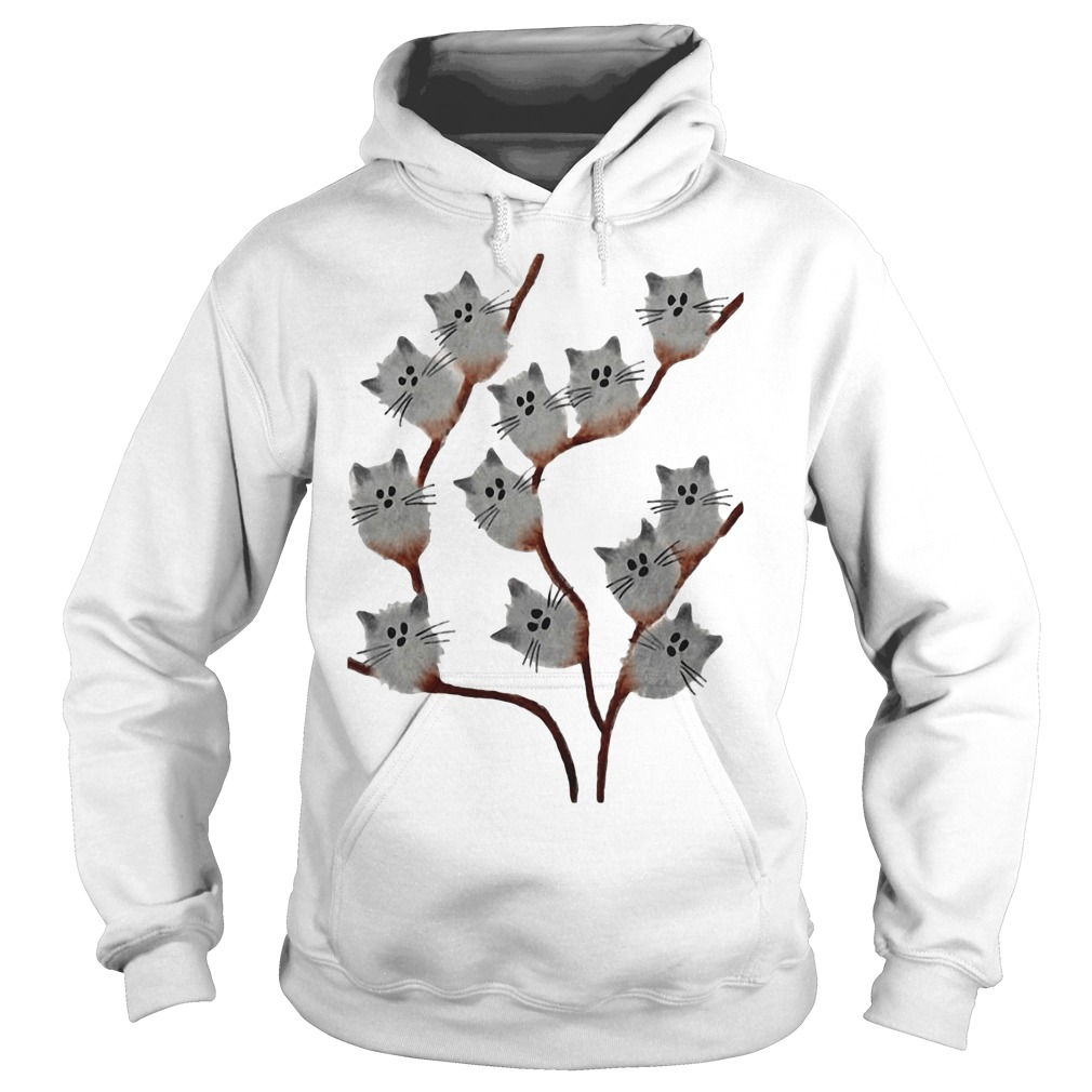 Cats on The Pussy Willow Catkins Tree hoodie