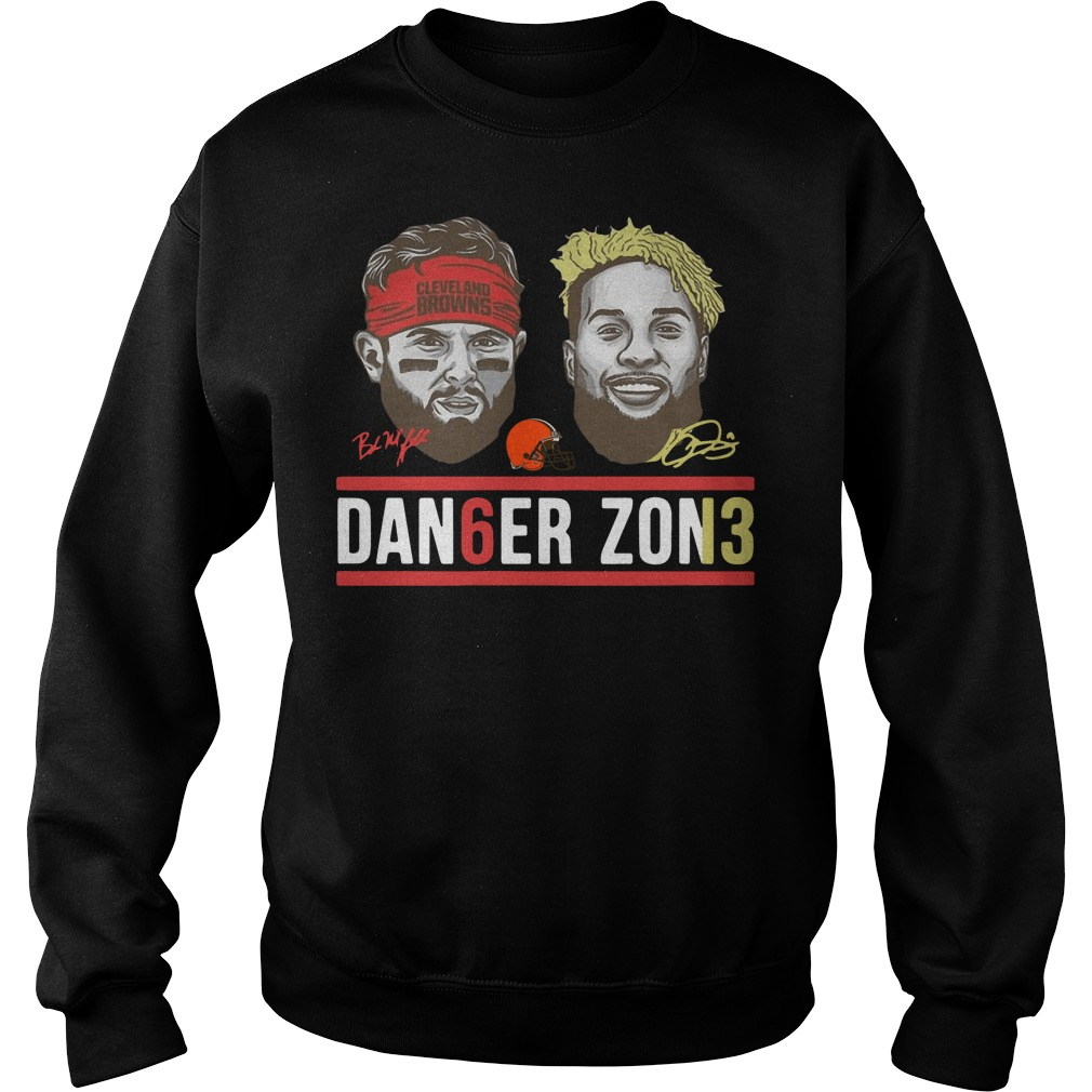 Danger zone 6 Baker Mayfield 13 Cleveland Browns signature sweater