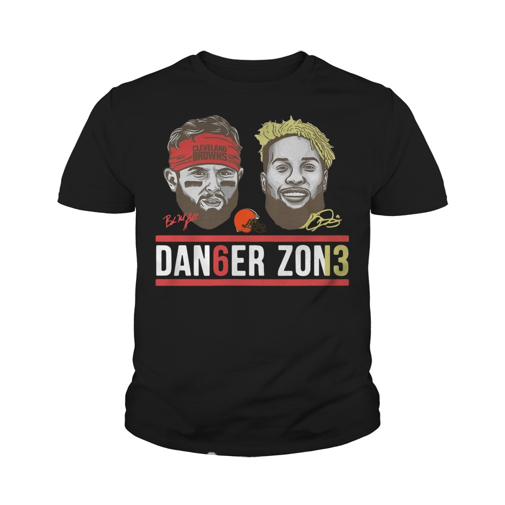 Danger zone 6 Baker Mayfield 13 Cleveland Browns signature youth tee