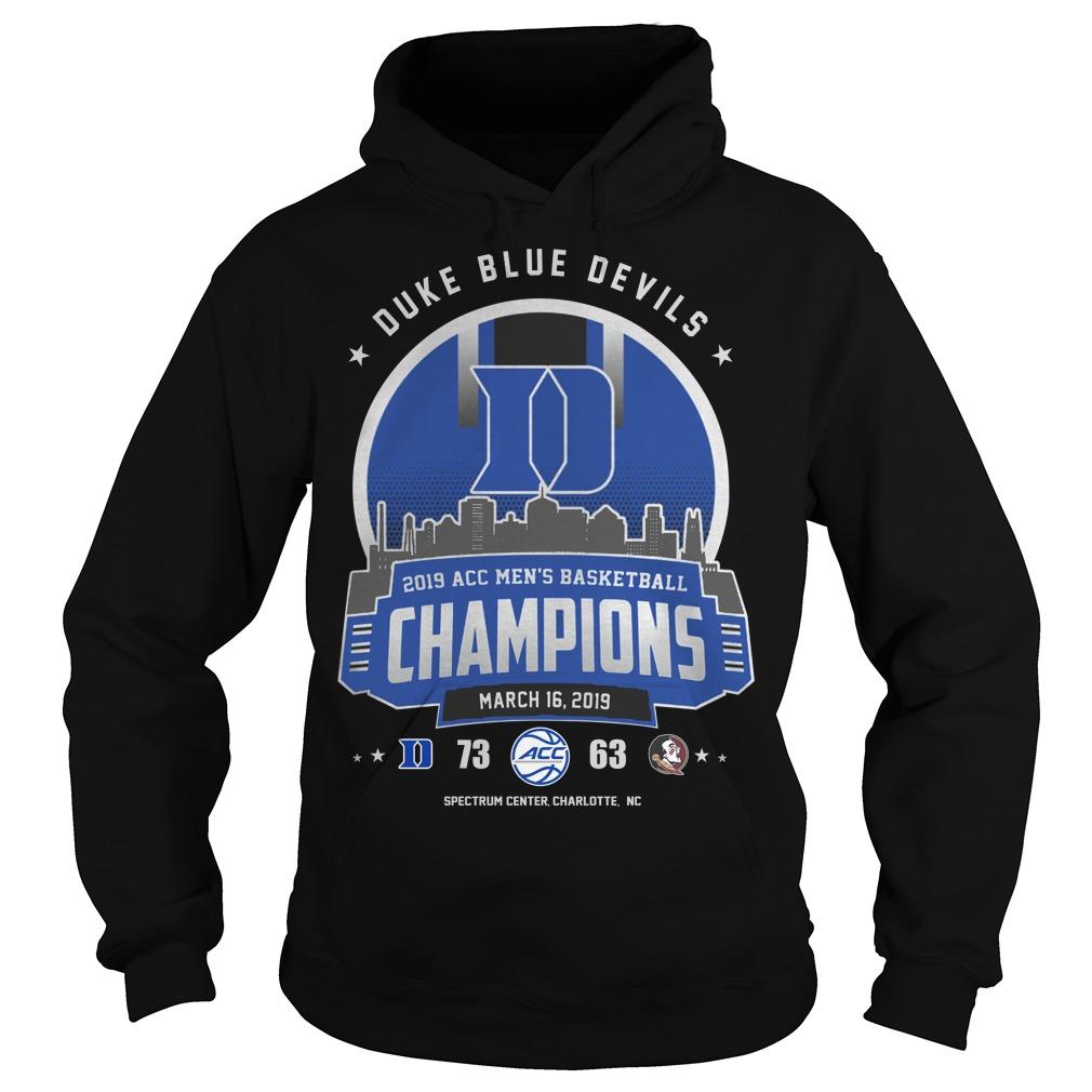 Duke blue devils 2019 acc men's basketball champion hoodie
