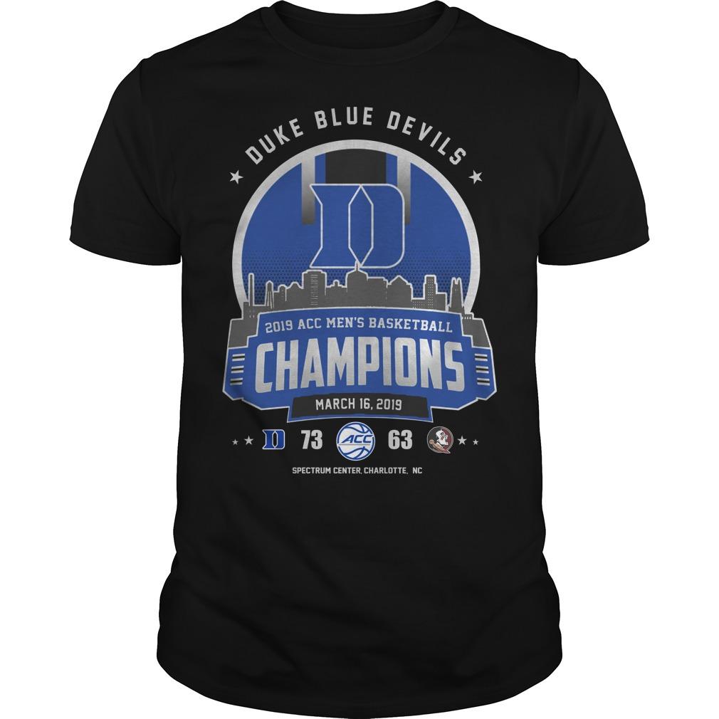 Duke blue devils 2019 acc men's basketball champion shirt