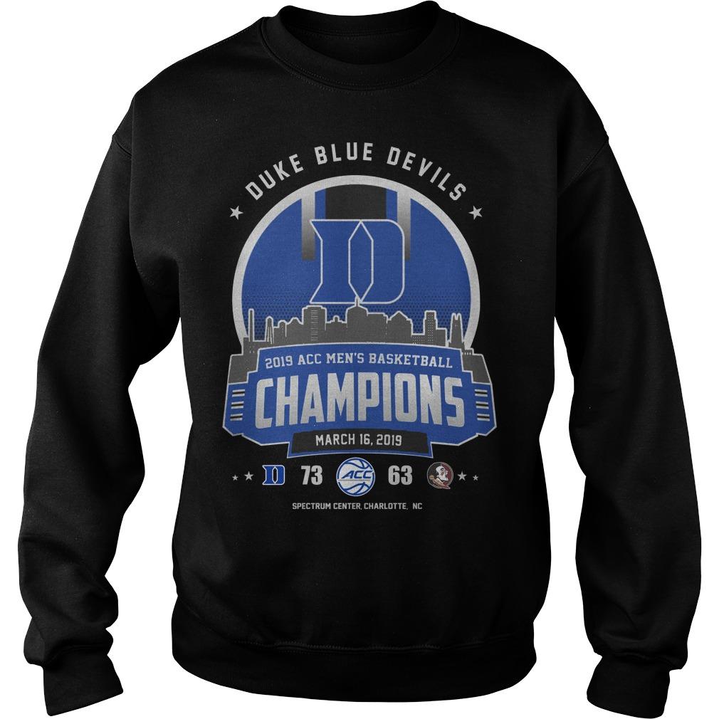 Duke blue devils 2019 acc men's basketball champion sweater