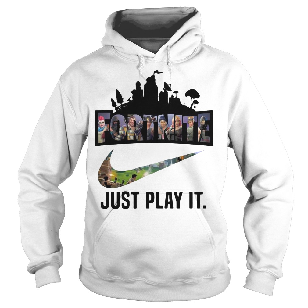 Fortnite Battle Royale Nike just play it hoodie