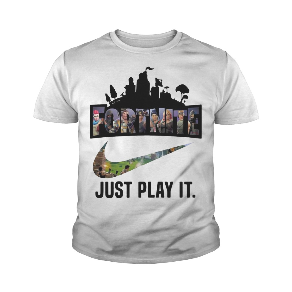 Fortnite Battle Royale Nike just play it youth tee