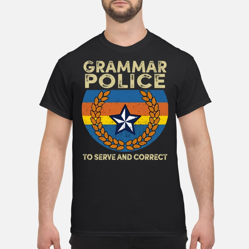 Grammar to serve and correct shirt