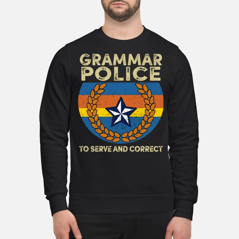 Grammar to serve and correct sweater