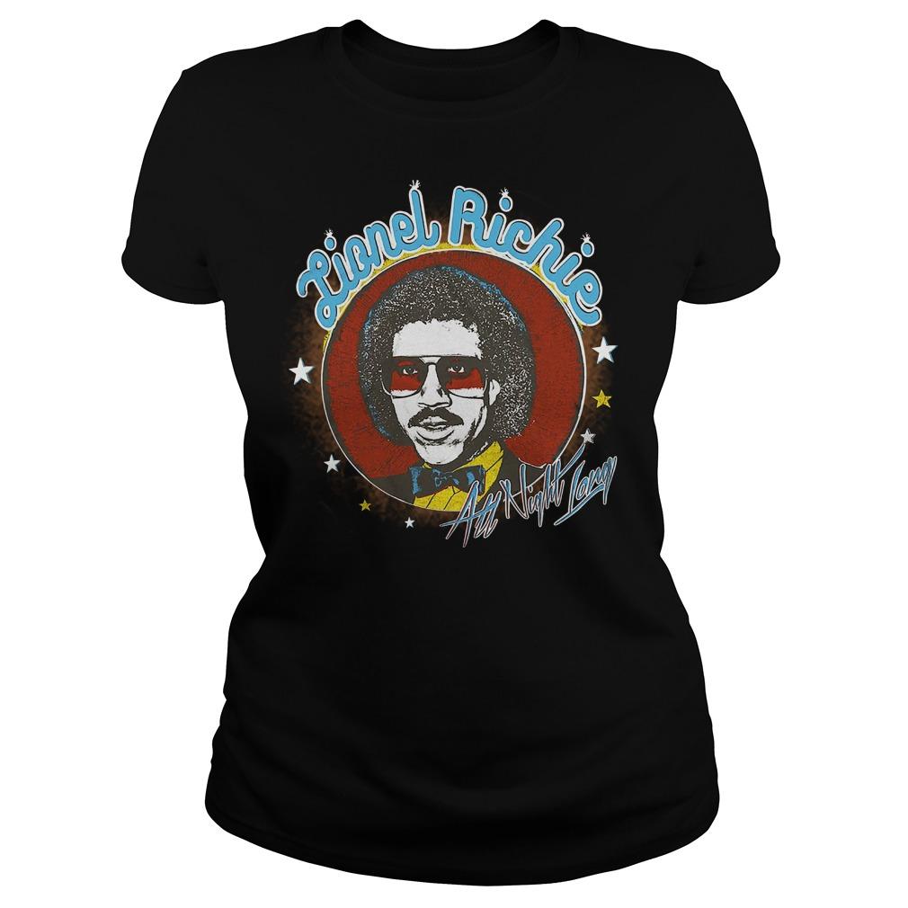Lionel Richie All Night ladies tee