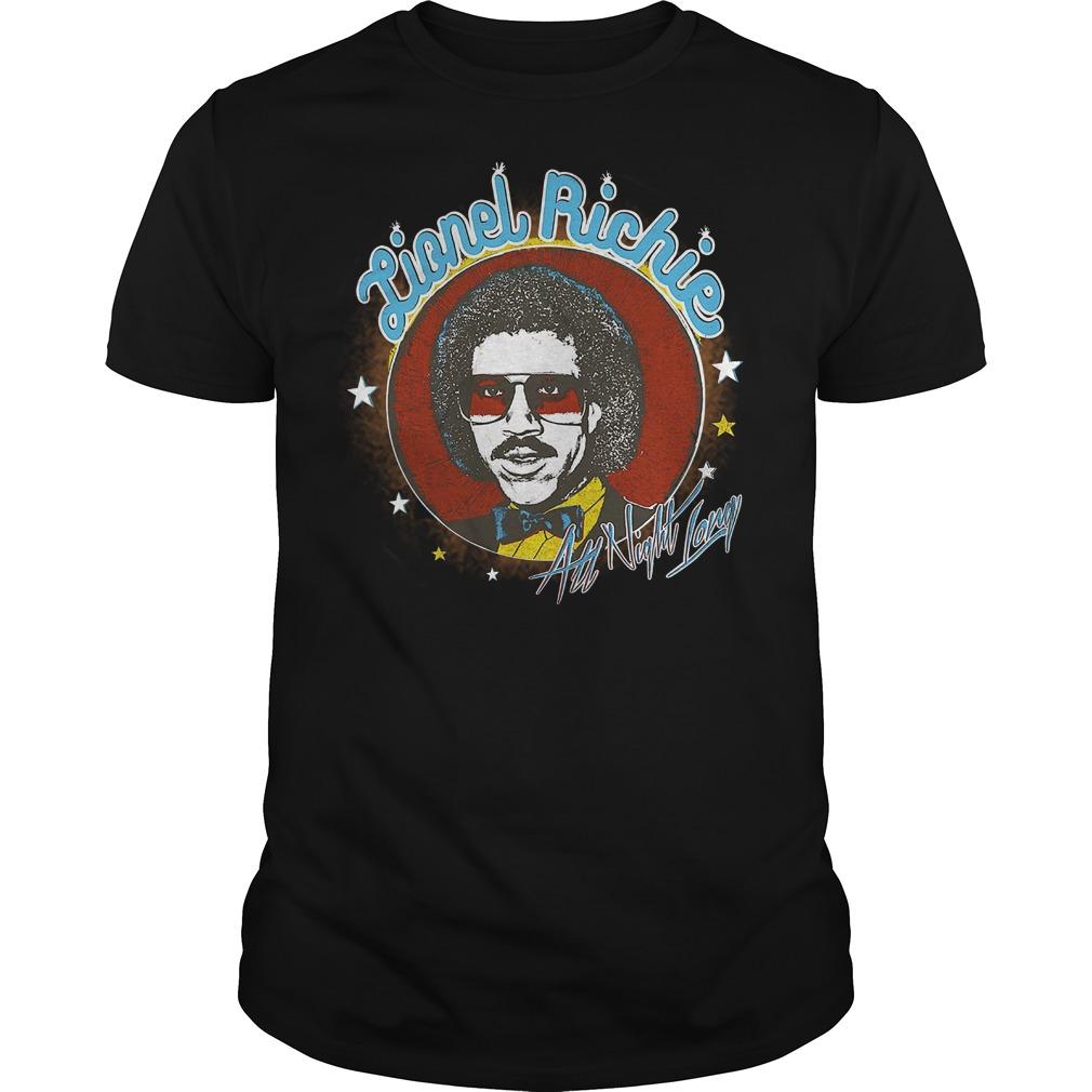 Lionel Richie All Night shirt