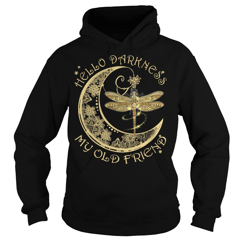 Moon and dragonfly Hello old friend hoodie
